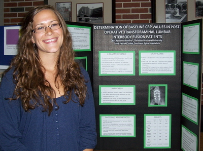 Adrienne Renfro at last year's  Poster Session
