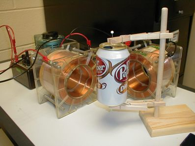 Dr. Clarke's apparatus: Eddy Currents and Aluminum Cans