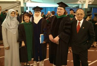 Dr. Sana Mujahid with her advisors and parents.