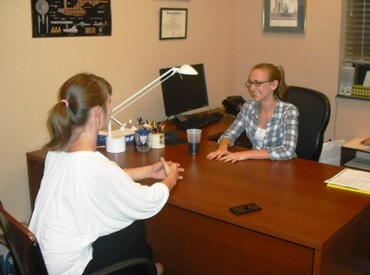 Dr. Melissa Hines, CBU alum, during the Mock Interviews last year