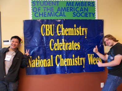 David Tran last year with Justin Edwards, Biochemistry 2012.