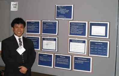 David Tran with his research poster in 2005.