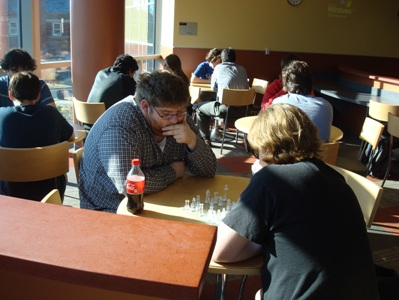 Last year's chess tournament in action.