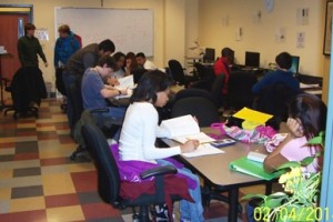 Math Center in operation
