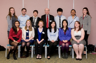 The CBU participants at the Area Collegiate Chemistry Meeting are pictured above.