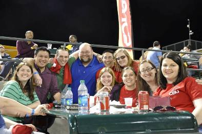Several SOS alumni attended the CBU night at the Redbirds.  Some of them are pictured here.