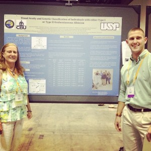 Dr. Malinda Fitzgerald and J.D. Wolfe at the ARVO conference.
