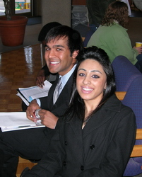 Bob Dalsania and Reena Patel at the TAS meeting in 2006