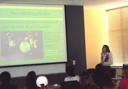 CBU alum, Catherine Gluszek, presenting at the SMACS meeting last month.
