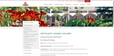 Spotlight faculty page