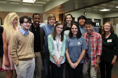 Students at the Student Research Poster Session last spring (2014).