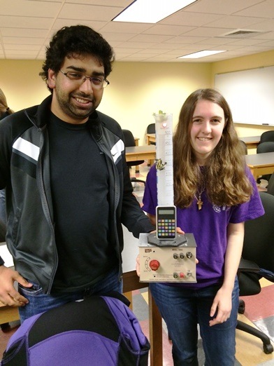 Steven and Megan, two of the winning team at the Science Trivia contest.