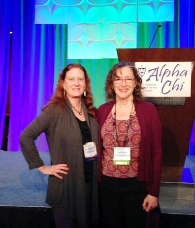 Dr. Malinda Fitzgerald with Johnnie Huddleston at the Alpha Chi convention.