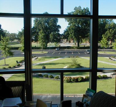 Looking out from the Student Lounge in CW