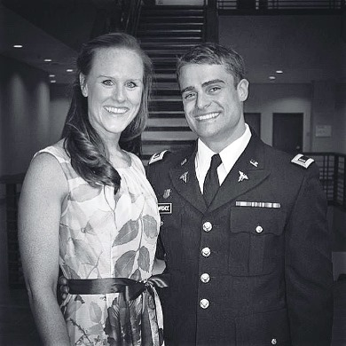 Captain Bobby Lawrence with his new wife.