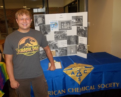SMACS President, Thomas Summers, at the Club Fair during the 2nd Orientation session this summer.