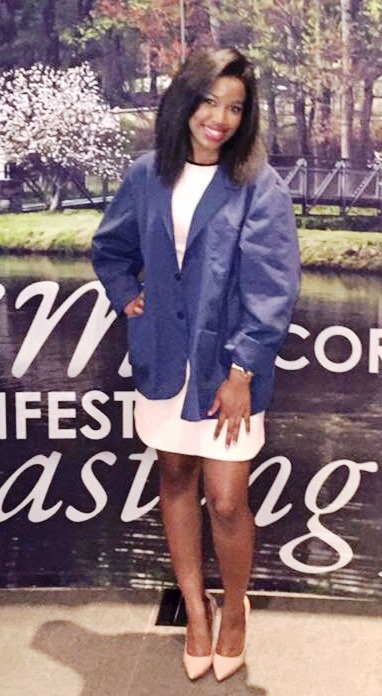Aisha Rallings at her blue coat ceremony at Chiropractic school.