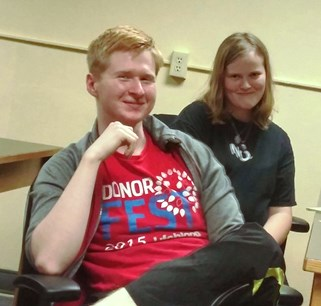 Luke Wade and Ali Crisp, the 2nd place winners of the Trivia Contest.