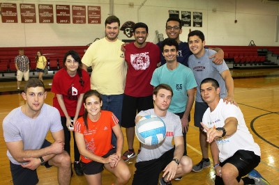 Student team from last year's Student/Faculty Volleyball game