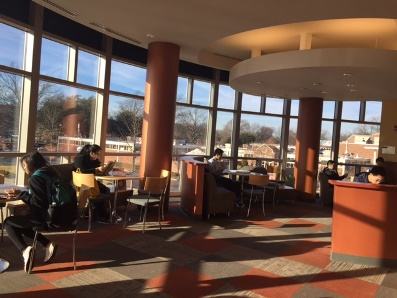 Student Lounge in CW soon after sunset