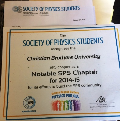 SPS Chapter award