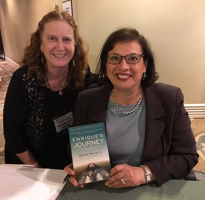Dr. Fitzgerald with author Sonia Nazario