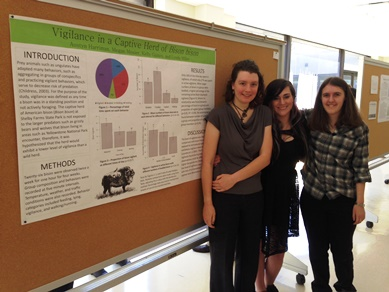 CBU's Ecology students with their poster at the TAS meeting.